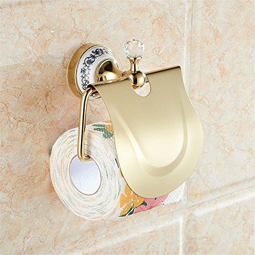 lww-toilettenpapierhalter / toilettenpapierhalter / rollen papier aus edelstahl - inhaber umhauen, wasserdicht, gold, geeignet für die toilette