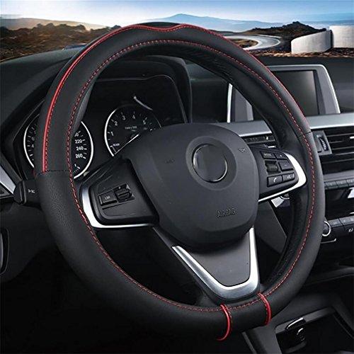 LPY-Universal Anti Slip Microfaser Leder Auto Auto Lenkrad Abdeckung 15 Zoll / 38cm Stabile Hitzebeständig , A