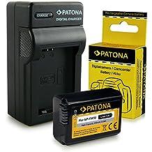 Cargador + Batería NP-FW50 para Sony NEX-3 | NEX-3A | NEX-3D | NEX-3K | NEX-5 | NEX-5A | NEX-5D | NEX-5H | NEX-5K | NEX-6 | NEX-7 | Sony Alpha: 33 (SLT-A33) | 37 (SLT-A37) | 55 (SLT-A55)