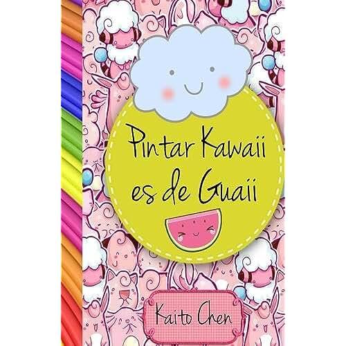 dia del libro kawaii Pintar kawaii es de guaii: Libro para colorear- niños y adultos
