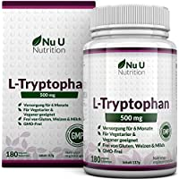 L-Tryptophan 500mg, 180 Tabletten (Versorgung für 6 Monate, Frei von Allergenen, Vegetarisch und Vegan, Hergestellt... preisvergleich bei fajdalomcsillapitas.eu
