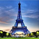 YUYINGXIANG Mural Papel de Pared Clásico Edificio de la Ciudad Torre Eiffel Sala de Estar Entrada Foto Fondo Papel Tapiz no Tejido Decoración para el hogar