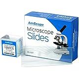50lames de microscope vierges et prénettoyées avec 100lamelles 22x 22mm
