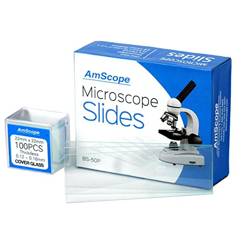 AmScope bs-50p-100s-22pre-Cleaned Blanco Terreno