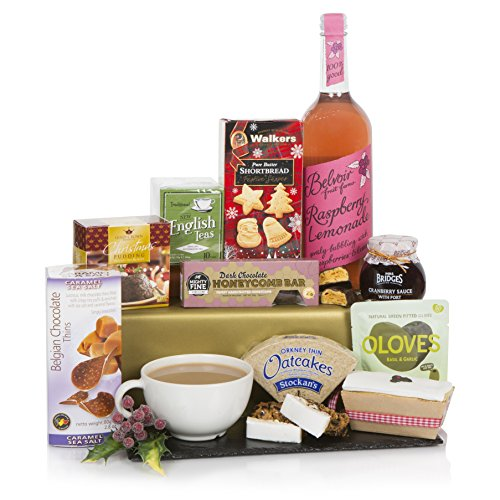 Christmas Favourites Hamper For Her - Food & Drink Christmas Hampers - Full Of Xmas Food Treats She Will Love - Non Alcoholic Drinks