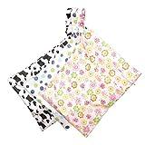Wet Dry Bag, 3er-Pack Babytuchwindel Wet Dry Bag mit zwei Reißverschlusstaschen Wasserdicht waschbar wiederverwendbar hängender Windel-Organizer