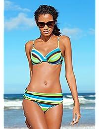 2Tlg Sunflair Bikini Gr.36,38,40 Cup-B NEU Schwarz//Gelb//Weiß Damen Badeanzug
