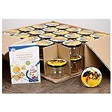 MamboCat 40er Set Sturzglas 230 ml to 82 Deckel mit Bienendekor Incl. Diamant Gelierzauber Rezeptheft Marmeladenglas Einmachglas Einweckglas