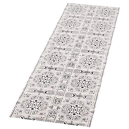 Zala Living Tile Waschbarer Küchenläufer, Polyamid, Grau, 140 x 45 x 0.5 cm -