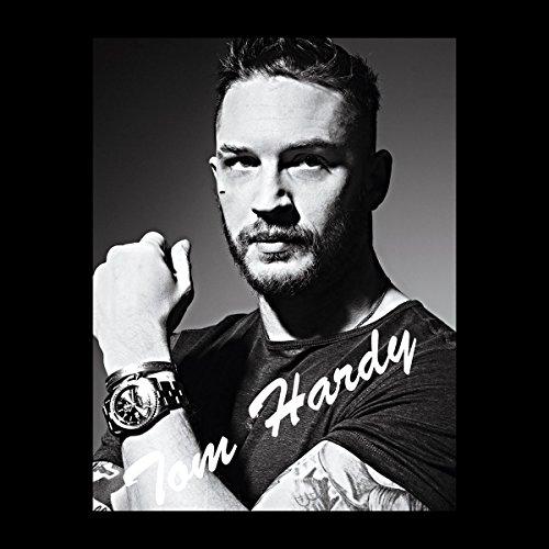 Tom Hardy Black And White Headshot Tribute Men's Hooded Sweatshirt Black