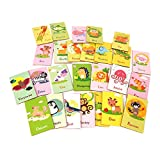 Millya Kids Toddlers 26PCS Alphabet Flash Cards Set A to Z Animal Shaped Letters Learning Cards Preschool Teaching Resources