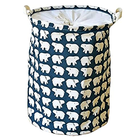 TEAMOOK Foldable Laundry Basket Folding Storage barrels (Polar Bear)