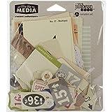 Hampton Art Paper Mix The Media Ephemera Pack-Cream