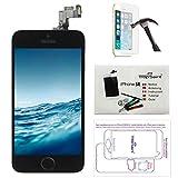 Trop Saint  Ecran LCD iPhone Se Noir - Kit Réparation Ecran Complet avec Notice, Outils, Tapis de Repérage Magnetique et Verre Trempé
