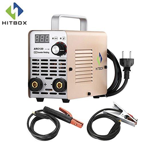 ARC Schweißer ARC120 DC-Stick 220 V MMA Inverter-Schweißgerät Mini Portable Stil 2,5 mm Rod Stick Welder mit Erdklemme Elektrode und Toolbag HITBOX (Stil-elektrode)