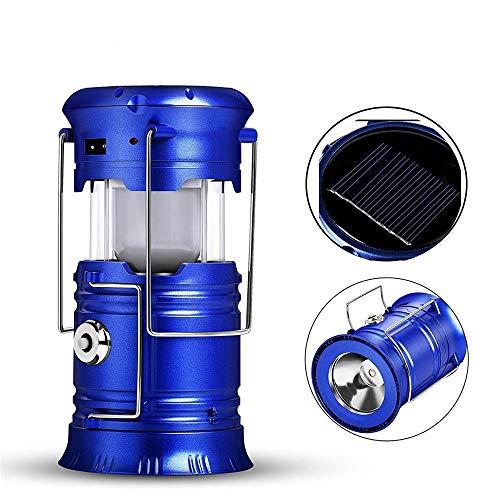 Linternas de linterna LED para acampar Equipo de equipo de luz solar plegable para carpa al aire libre Emergencias XLLF (Size : EU)