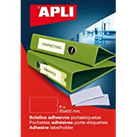 APLI Bolsillos portaetiquetas 55x102mm 6uds.