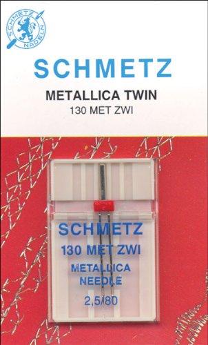 Euro-Notions - Aguja metálica Doble para máquina (tamaño 2,5/80 1/Pkg