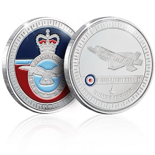 The Koin Club RAF Coin   Medal   Memorabilia - Modern Fighter Plane Box Set
