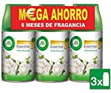 Air Wick White Bouquet Freshmatic - Ambientador para el hogar, recambio fragancia, pack de 3 x 250 ml, total de 750 ml