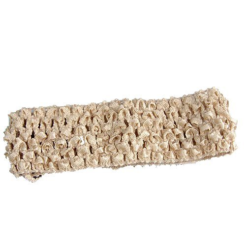 Generic 1.5 Inch Elastic Baby Toddler Girls Crochet Headband - Tan  available at amazon for Rs.120