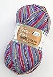 Rellana Flotte Socke Bambus Merino, Farbe 3007, 100g Weiche Sockenwolle aus Merinowolle, Bambus und Polyamid