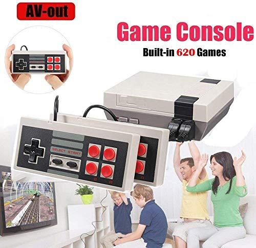 melysEU Mini TV Handheld Familie Erholung Videospielkonsole AV-Anschluss Retro Eingebaute 620 Klassische Spiele Dual Gamepad Gaming Player (4 Schaltflächen) (Tv-spiele)