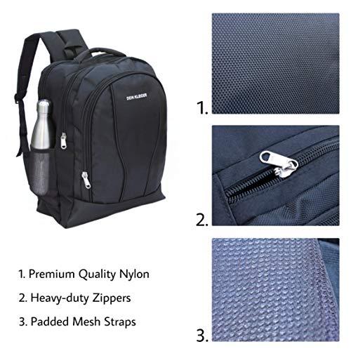 DEIN KLEIDER Unisex 40 L Large Capacity Casual/School/Laptop Backpack (Black) Image 5