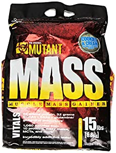 PVL Mutant Mass 6800 g Cookies and Cream Weight Gain Shake Powder from Tropicana Health & Fitness Ltd