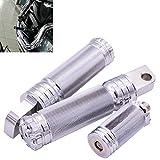 katur Motorrad CNC Aluminium schwarz Fußstütze Fußrasten + Shifter Peg + Lenkergriffe für Harley...