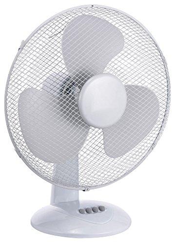 Standventilator / Tischventilator Desk Fan Ø 40cm 45 Watt, 3 Geschwindigkeitsstufen Ventilator mit 180° Rotation, leiser Betrieb Desk Fan Windmaschine (Tischventilator Ø:40cm/45Watt)