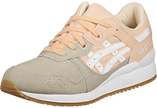 Asics H6w7n, Chaussures Femme Orange (Bleached Apricot/white)