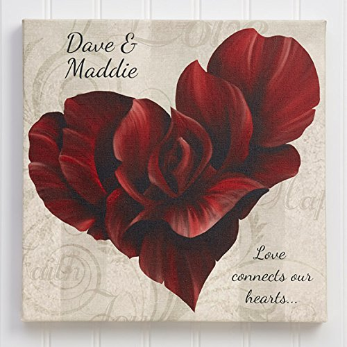 Valentine's Day Gift | valentines Gift | Gift for girlfriend | Gift for boyfriend | Gift for couple | Photo gifts online | Personalised Framed Canvas by Paper Plane Design | Beautiful HD quality | Make an ever-lasting memory for your Loved ones | Size 8inch x 8inch  available at amazon for Rs.225