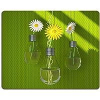 Liili Mouse Pad-Tappetino per Mouse in gomma naturale, motivo vasi di fiori, a forma di lampadina, realizzato a mano, immagine 23284606