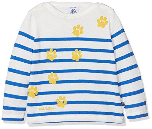 Petit Bateau Baby-Jungen T-Shirt Tee ML Jour, Mehrfarbig (Marshmallow/PERSE 01), Herstellergröße: 6 Monate