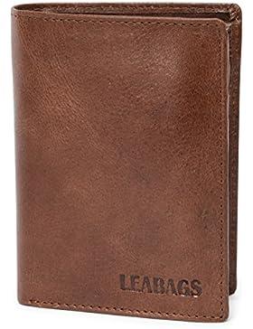 LEABAGS Indianapolis monedero de auténtico cuero búfalo en el estilo vintage