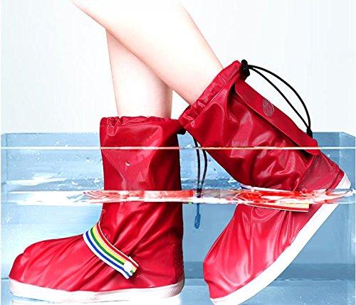 SAZLL Regen Stiefel wasserdicht/Regen/Double für Männer und Frauen / / Ende des Slip/Abrieb Widerstand/regen/Schuh deckt , transparent , s
