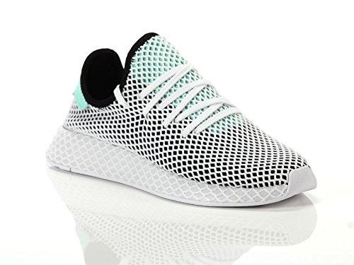 Adidas Herren Deerupt Runner Schuhe - Core Black-easy Green-footwear White (B28076) - 43 1/3 EU