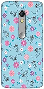 Snoogg Bee Flower Pattern Designer Protective Back Case Cover For Motorola X ...