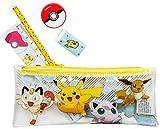 POKEMAN| Filled Pencil Case Set | 5 Pikachu Pokeman Items