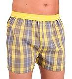 bruno banani Herren Boxershorts Unterhose Cotton (XXL, Gelb/Grau Karo(2114))