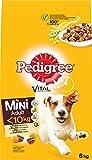 Pedigree Hundefutter Trockenfutter Adult für kleine Hunde <10kg mit Huhn und Gemüse, 1 Beutel (1 x 6kg)