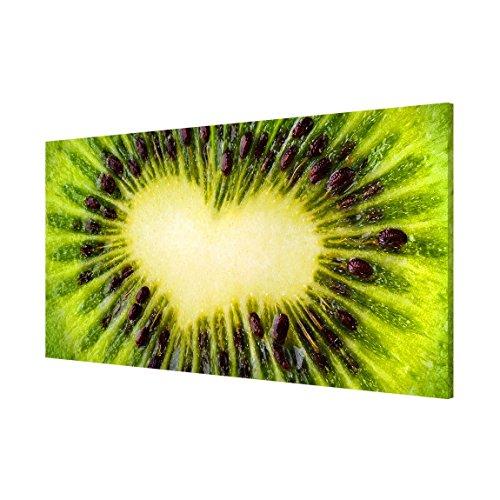 Apalis 108781 Magnettafel Kiwi Heart Memoboard Design Quer Metall Magnet Pinnwand Motiv Wand Stahl Küche Büro, 37 x 78 cm - 3