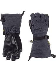 Burton Guantes infantil de snowboard Grab Gloves, infantil, color tela vaquera, tamaño S