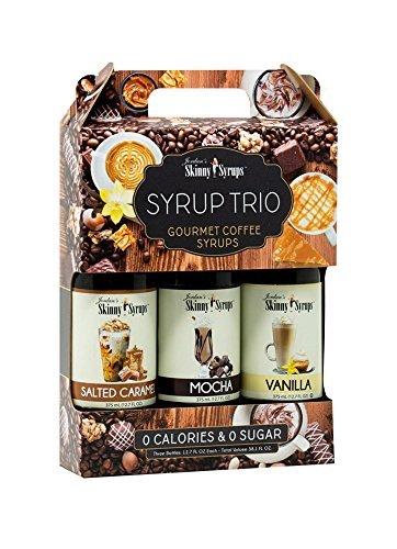 Jordans Skinny Sirup Zuckerfrei Null Kalorien - Klassische Sirup Trio enthält 3 Flaschen Vanille,...