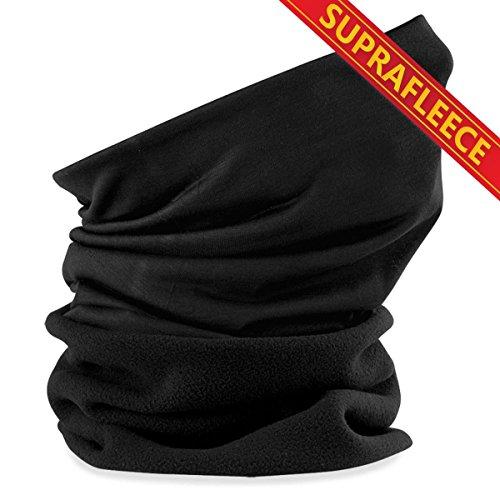 TrendDeluxe24 Schlauchschal aus Mikrofaser | Schlauchtuch | Neckwarmer | Halstuch | Bandana | Multifunktionstuch | Kopftuch | vielseitig und in verschiedenen Farben (Suprafleece Black)