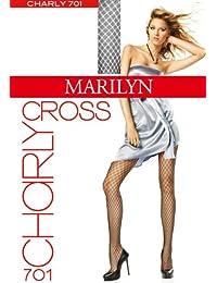 Marilyn in Style Strumpfhose in Netzoptik mit feinen Rautenmuster, 20 Denier