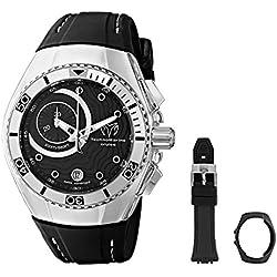 TechnoMarine 114029 - Reloj de cuarzo para hombres, color negro