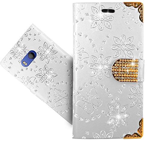 Preisvergleich Produktbild HTC U11 / HTC Ocean Handy Tasche, FoneExpert® Wallet Case Cover Bling Diamond Hüllen Etui Hülle Ledertasche Lederhülle Schutzhülle Für HTC U11 / HTC Ocean