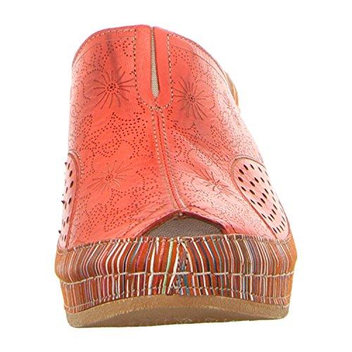 Gemini 031509-29/596, Mules pour Femme Rouge/orange